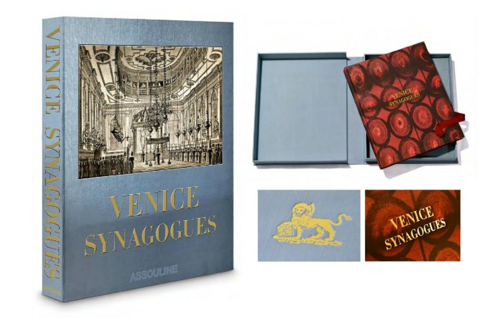 Venice Synagogies hand-bound limited edition in a silk clamshell case