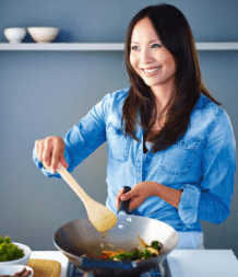 TV chef and cookery author Ching He Huang