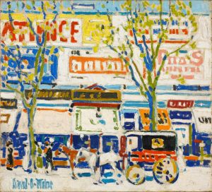 David B. Milne  'Billboards' c. 1912