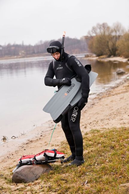A man in a wetsuit