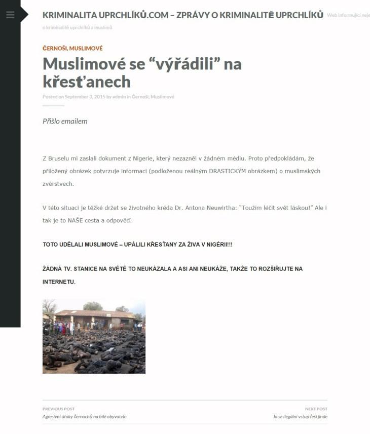 """Muslimové se """"výřádili"""" na křesťanech   Kriminalita uprchlíků.com – zprávy o kriminalitě uprchlíků"""