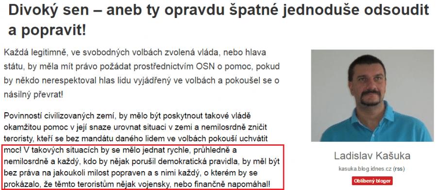 ...odsoudit a popravit (Ladislav Kašuka na blog.idnes.cz)