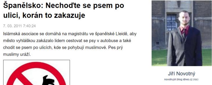 Španělsko Nechoďte se psem po ulici korán to zakazuje Blog iDNES.cz