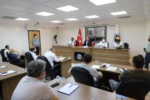 Başkan Akın devam eden projeler hakkında meclisi bilgilendirdi