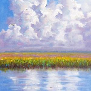 Marsh Clouds Charleston Landscape