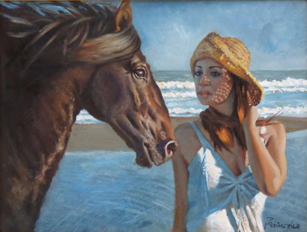 Alexandra with Horse