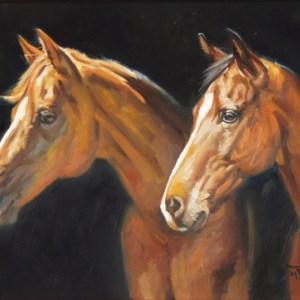 Double Horse Portrait