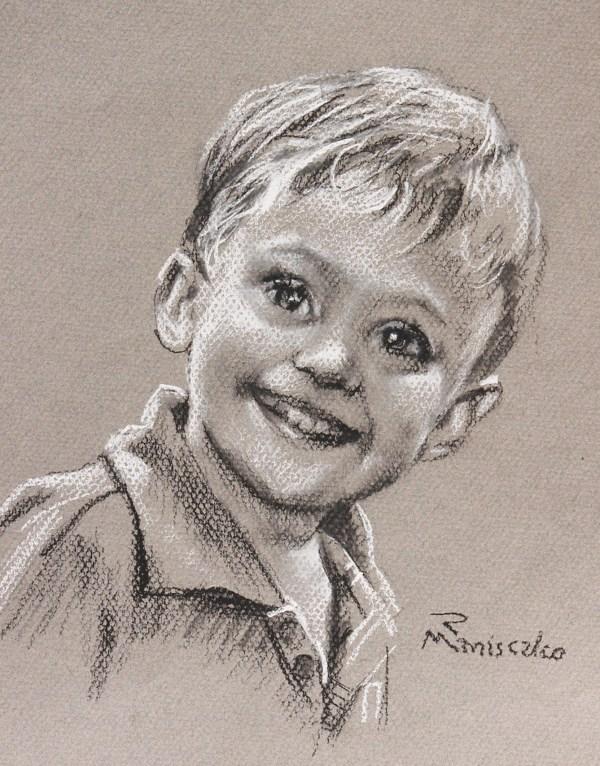 Alex Boy's charcoal sketch