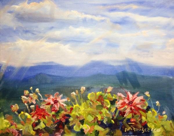 Mountain Floral Landscape