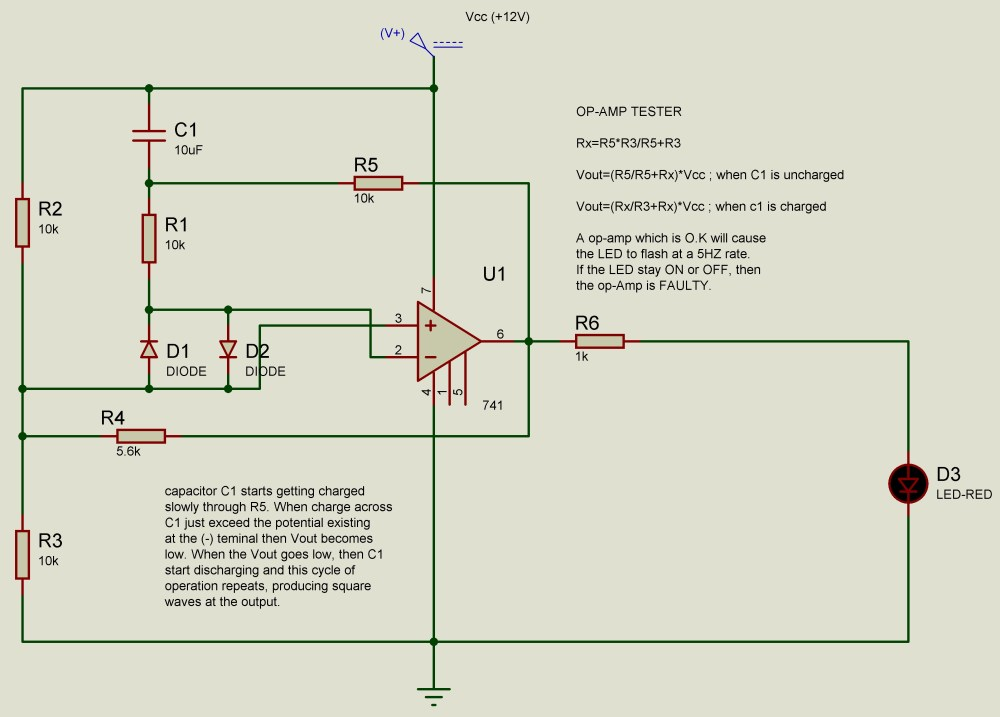 medium resolution of op amp 741 ic tester circuit