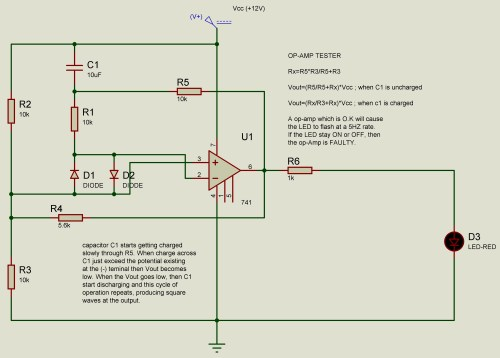 small resolution of op amp 741 ic tester circuit