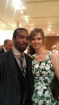 With Cynthia Nixon at the T'ruah 10th Anniversary Celebration