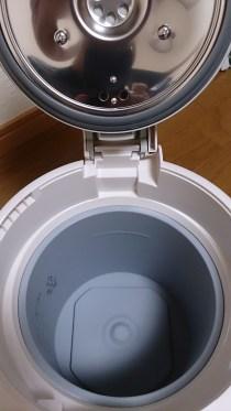 象印 スチーム式加湿器 EE-RH35 蓋をあけた状態