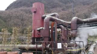 九重観光ホテル地熱発電施設 正面左手