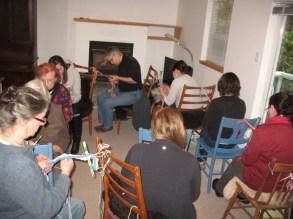 Finger weaving class