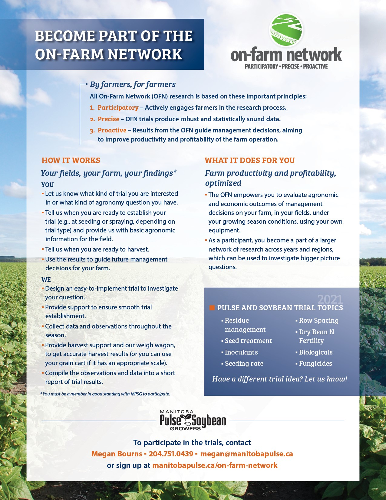2021 On-Farm Network Call to Participate