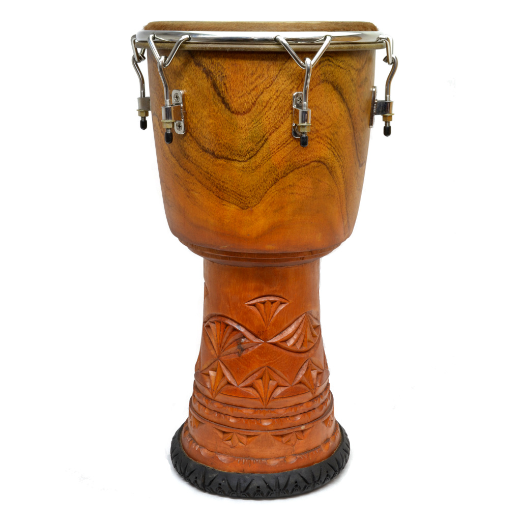Melina Wood Djembe with stainless steel hardware