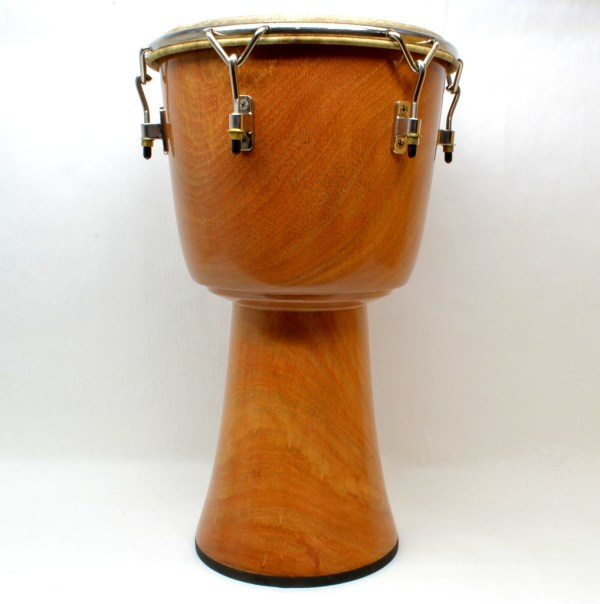 Blackened Lenke wood djembe