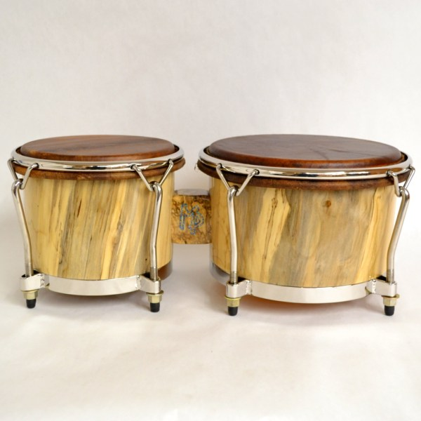 spalted maple bongos