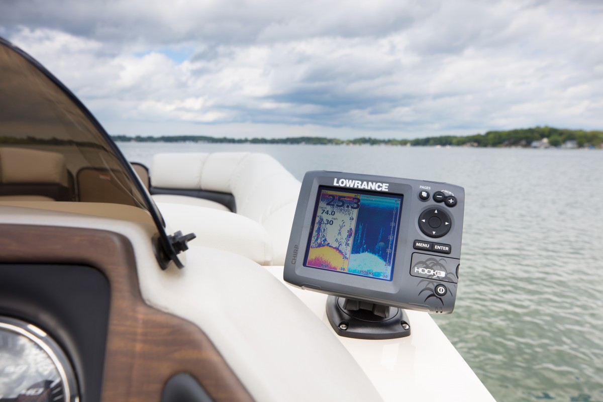 hight resolution of optional fishfinder lowrance hook 5