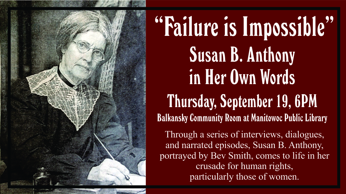 Failure Is Impossible Susan B Anthony In Her Own Words
