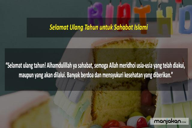Ucapan Ulang Tahun Untuk Sahabat Islami