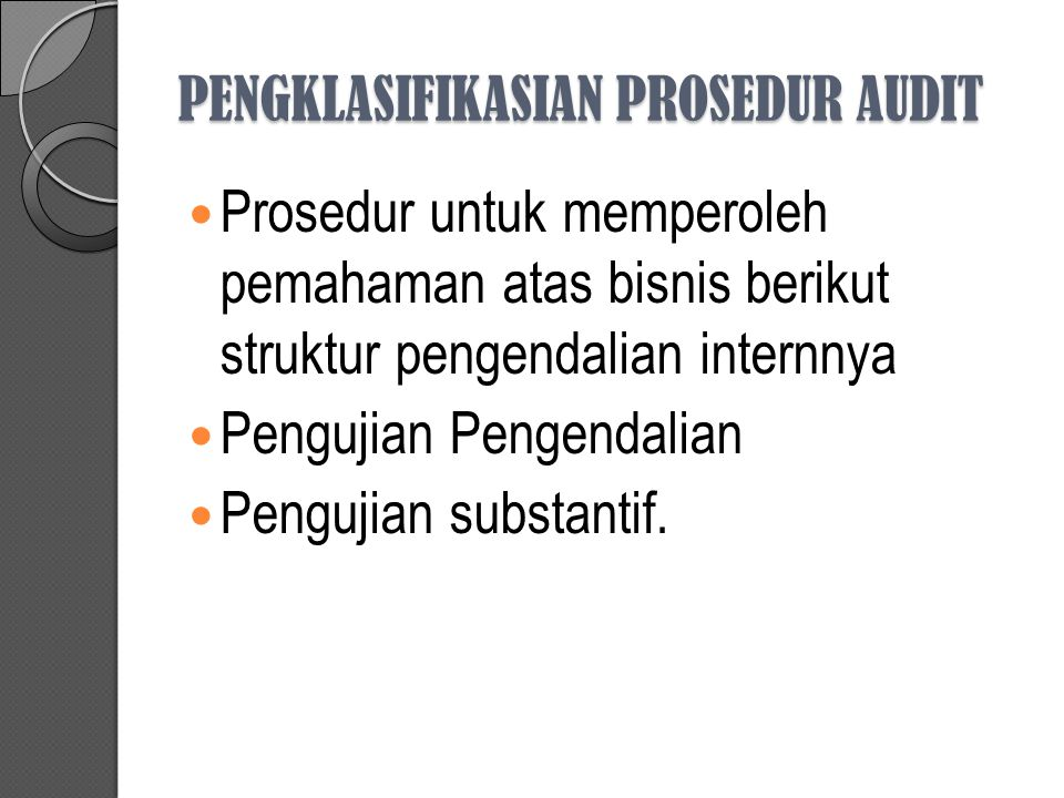 Pengklasifikasian Audit