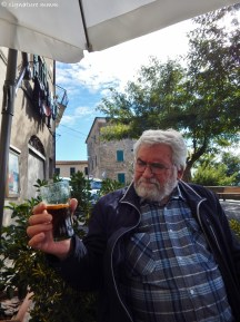 Father is impressed with his Chinotto. It tastes surprisingly like Cockta, Slovenian cola drink from his youth.