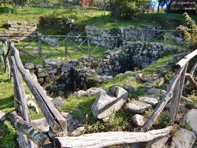 First stop - an Etruscan settlement.