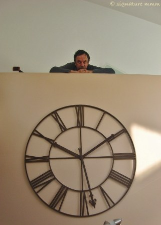 Uncle in timeless Piran. This clock is not a clock.