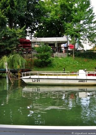 """""""Janez-1"""" on the Ljubljanica river, Ljubljana, Slovenia."""