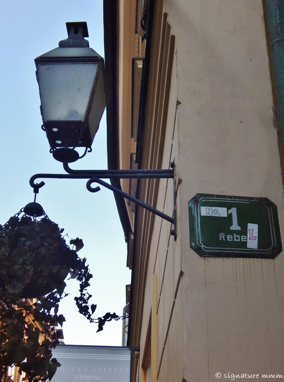 Street name bust #2: Reber => Rebel. Good to have a Ljubljana street named after me finally. :D