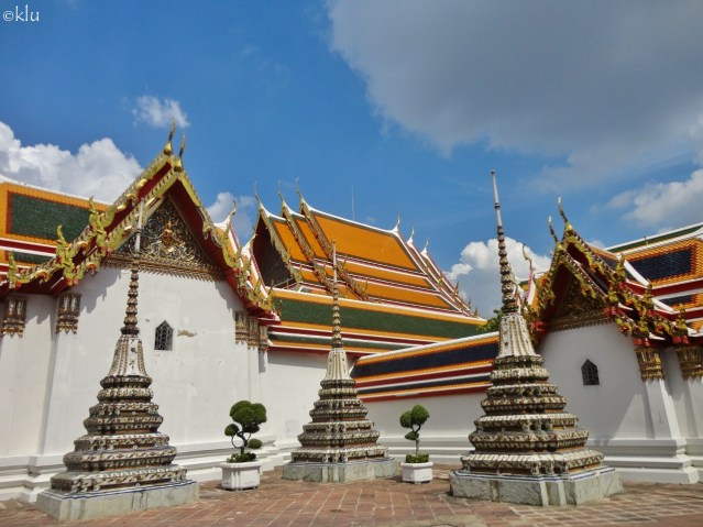 Wat Pho (the Temple of the Reclining Buddha), Bangkok, Thailand, 9 photos.
