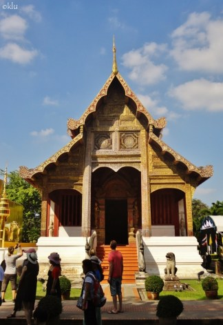 3 images from Wat Chedi Luang, Chiang Mai, Thailand.