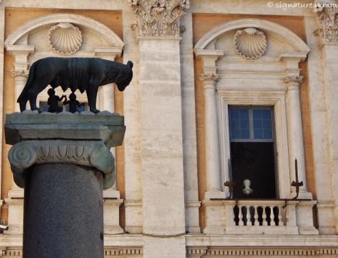 The She-wolf at the Campidoglio.