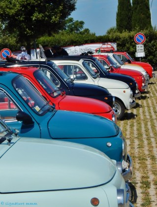 Fiat 500's had their picnic at our train station.