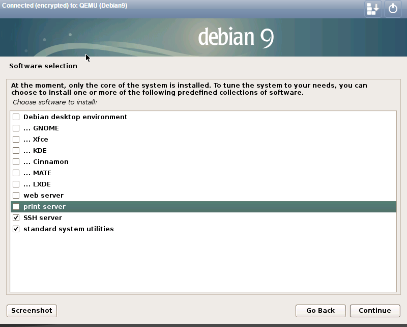 install debian 9.0 software selection.png