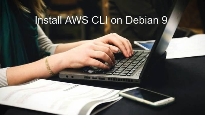 install aws cli on debian 9