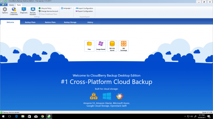 Cloudberry Backup Windows Desktop