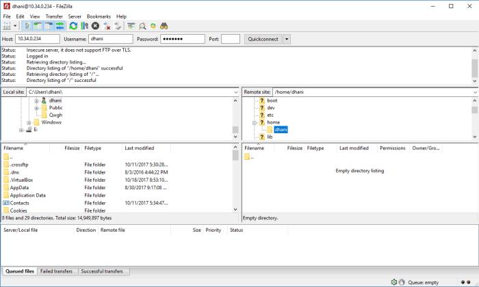 install ftp server on centos