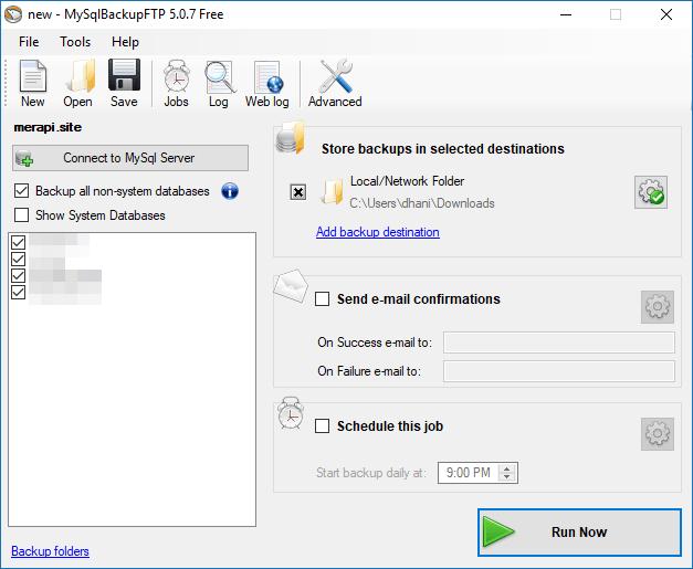 MySQLBackupFTP