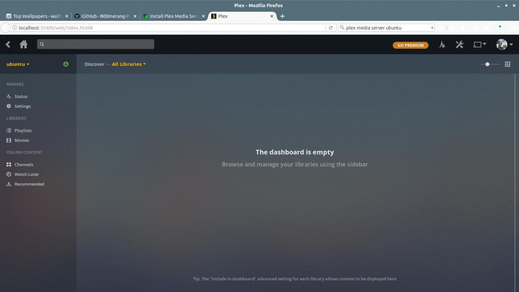 Install Plex Media Server on Ubuntu 17 10 Artful Aardvark