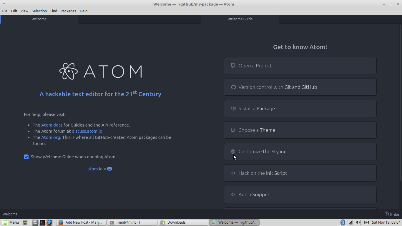 install atom on linux mint 18.3