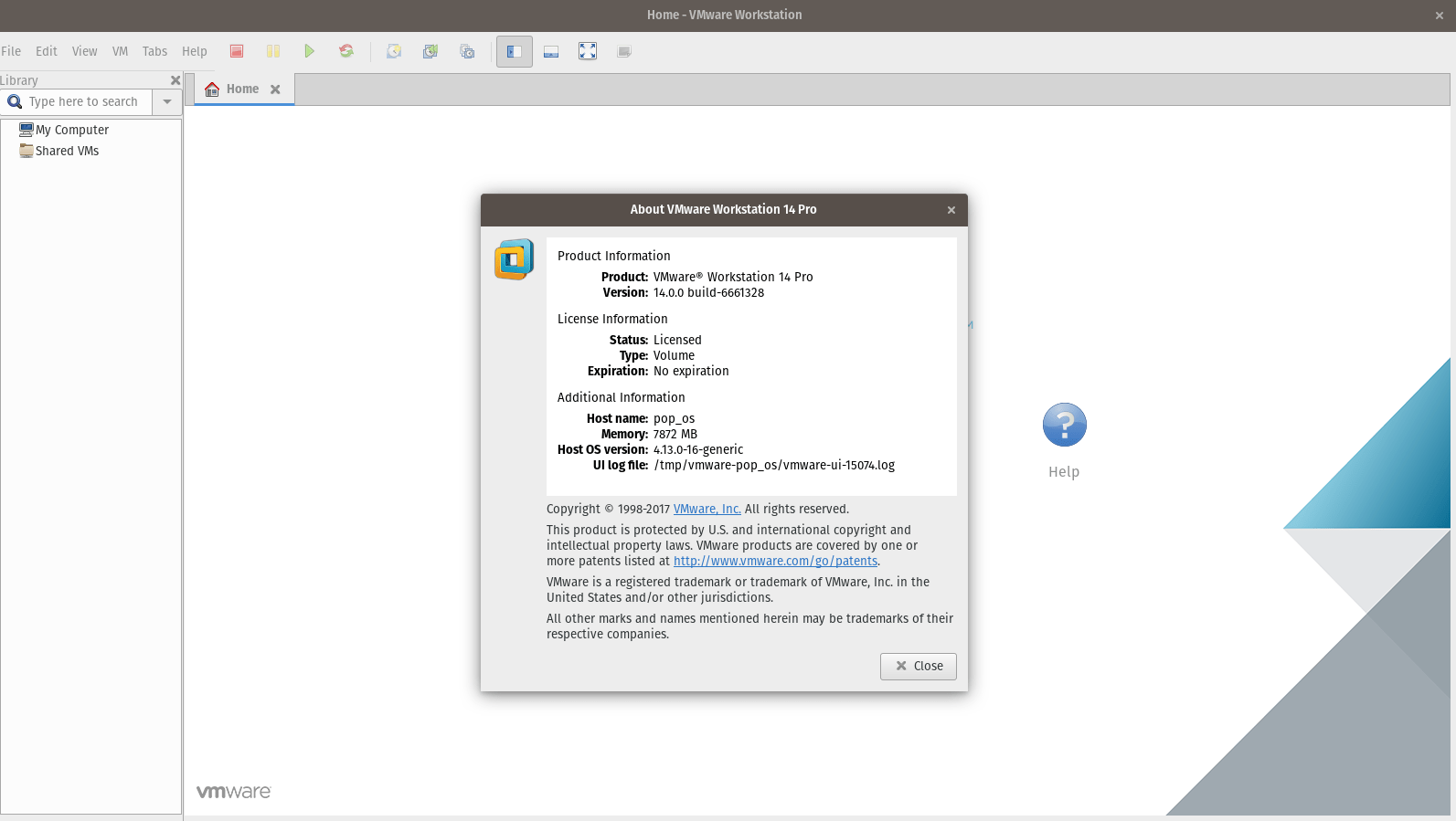 install VMWare Workstation 14.0 Pro on Ubuntu