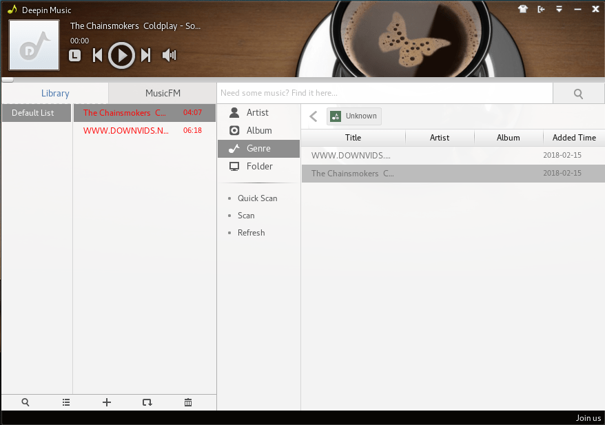 deepin music opensuse 1.png