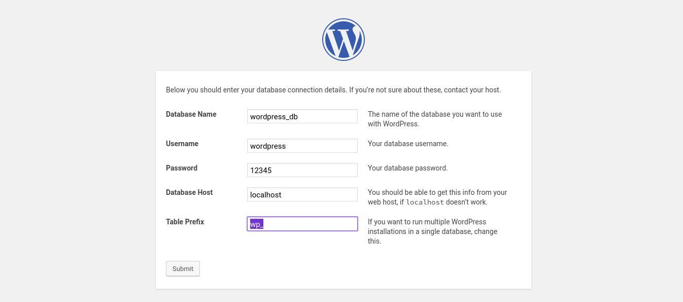 configure wordpress 2