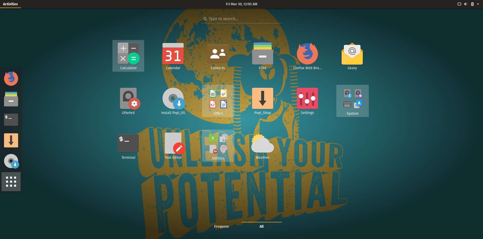 pop os 18.04 application launcher.jpg