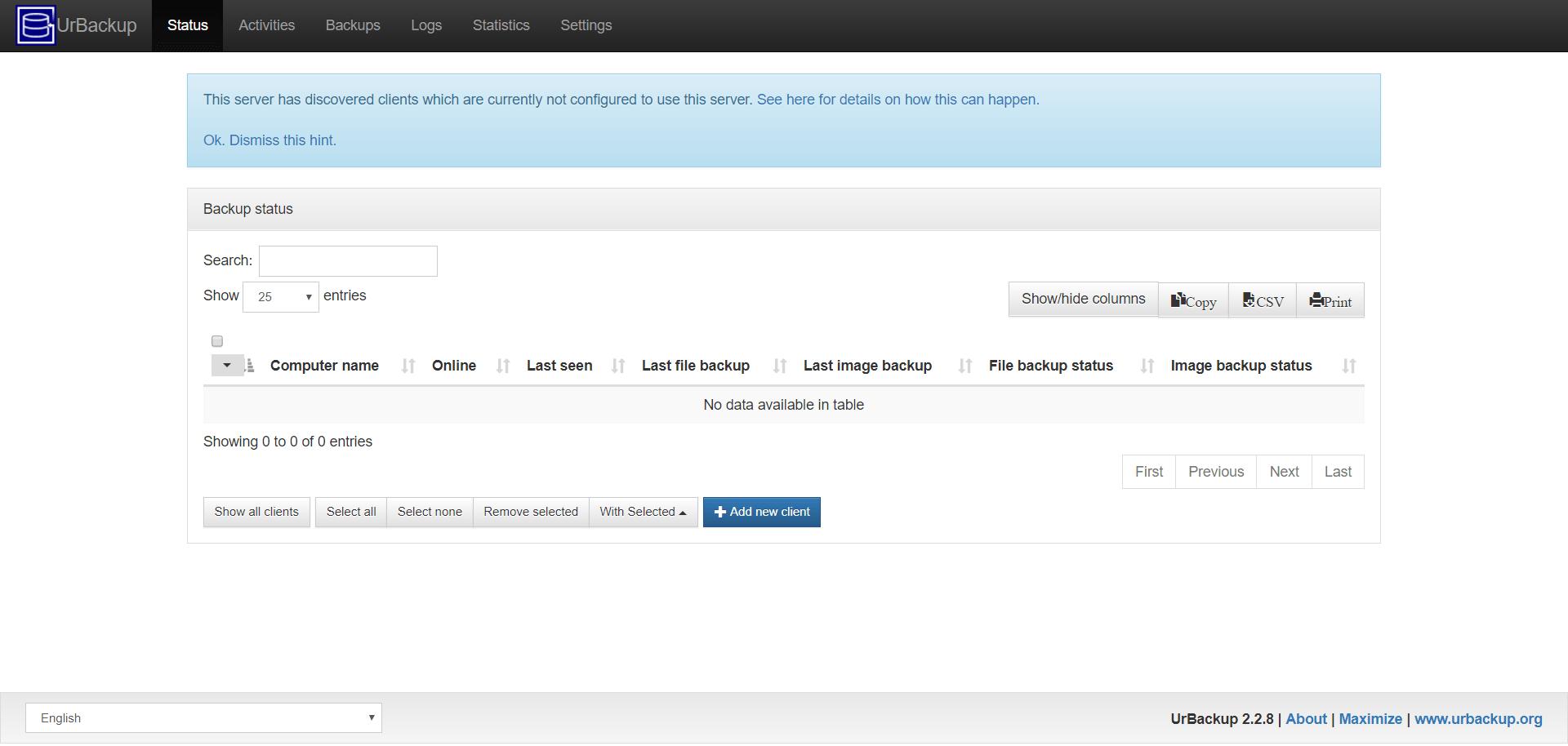 urbackup server on ubuntu 17.10.png