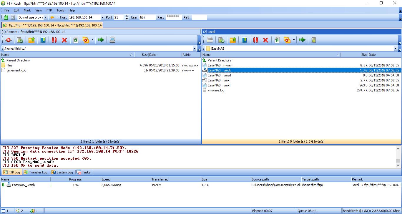 ftp server raspbian