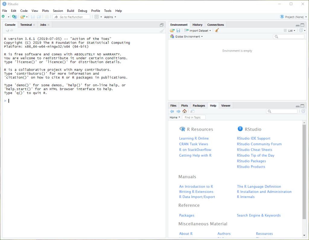 Install R in Windows 10